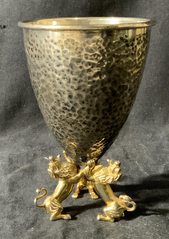 A. SALAMON Sterling Silver Kiddish Cup