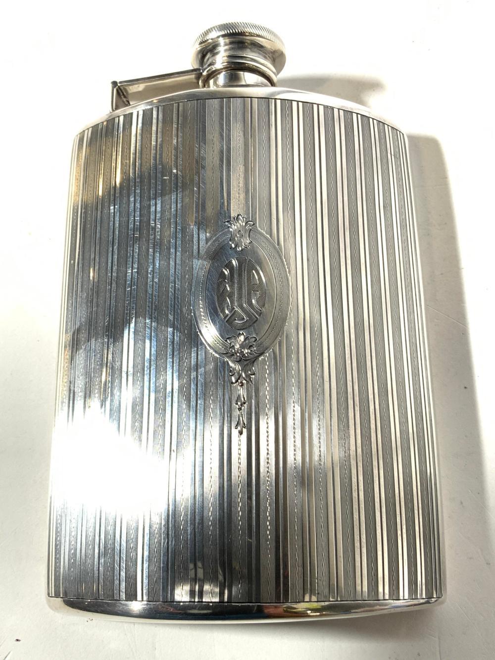 Monogrammed Sterling Silver Half Pint Flask