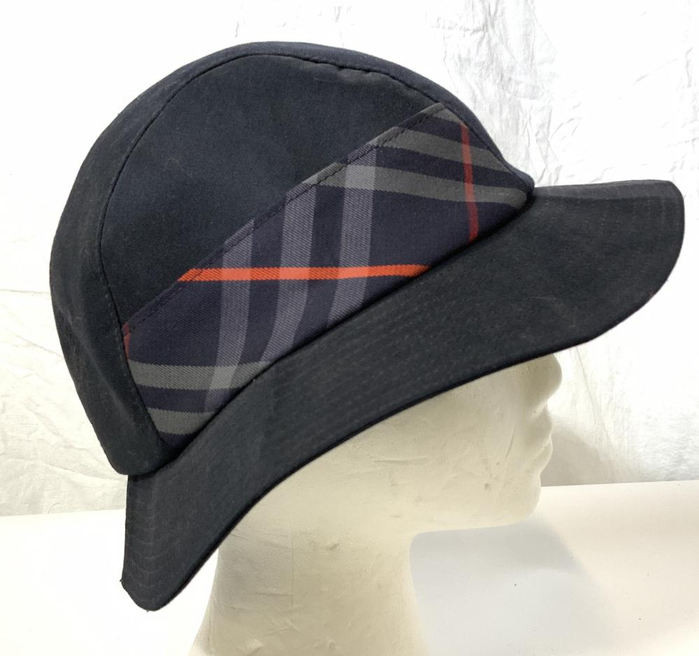 Authentic BURBERRY Hat with Navy Nova Check