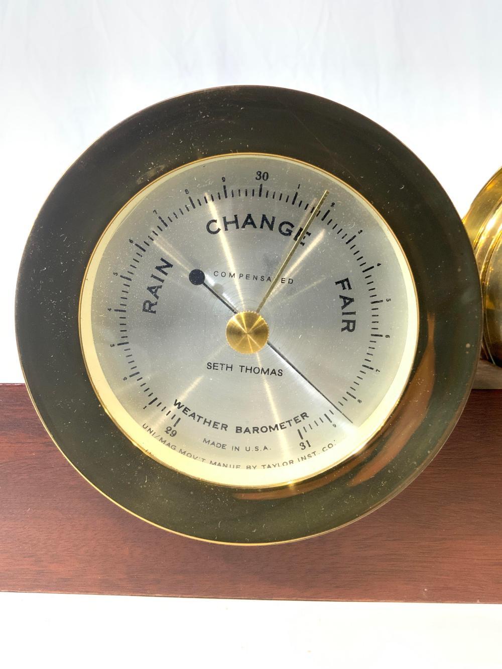 SETH THOMAS Wood & Brass Ships Clock