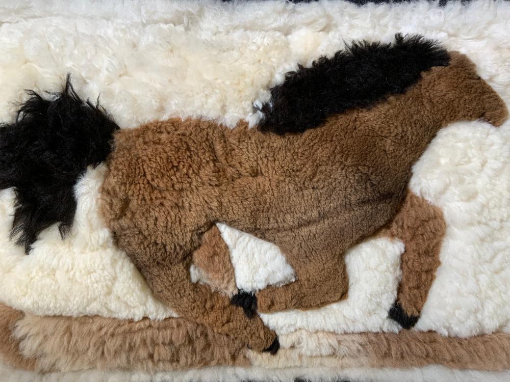 Llama Fur Throw Pillow, Peru