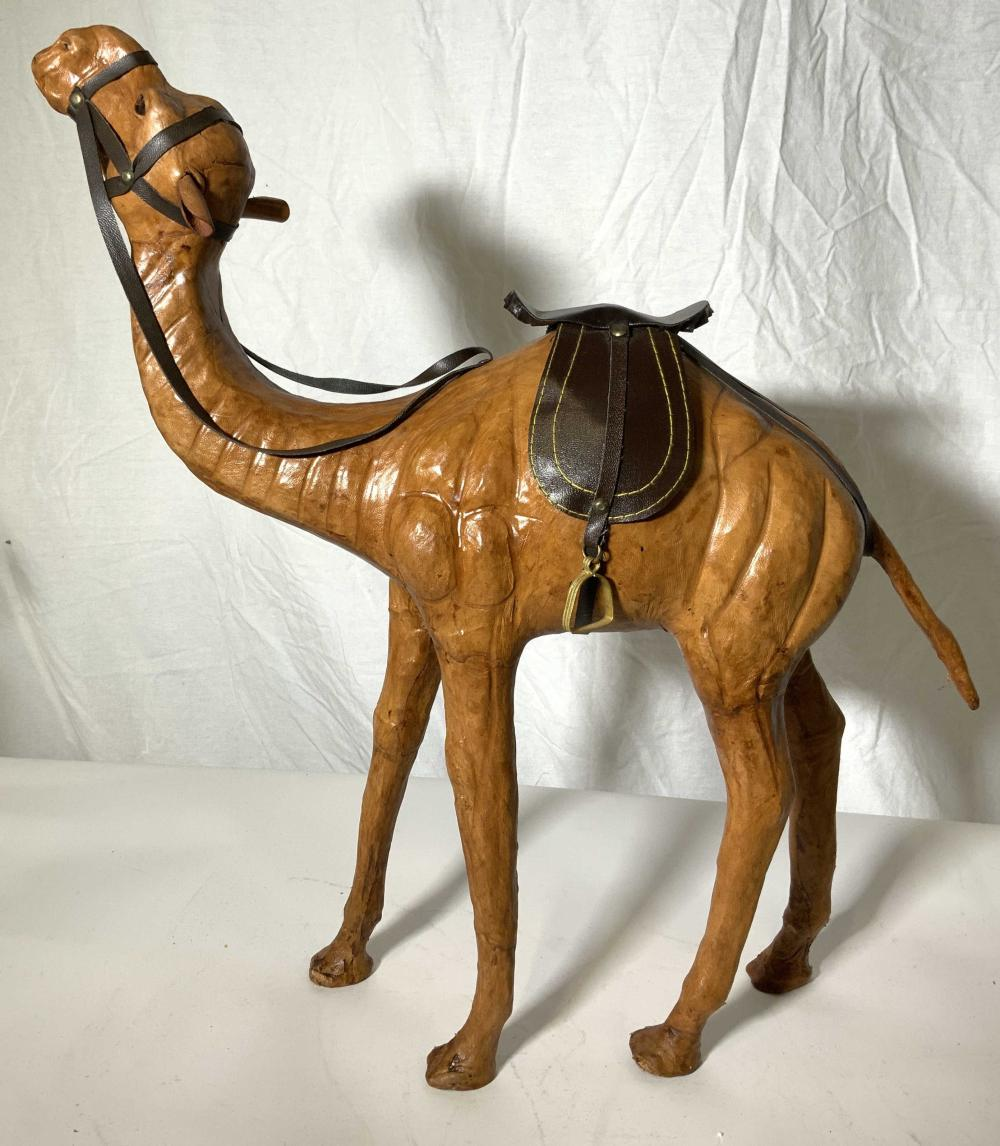 Leather Bound Camel Figural, India