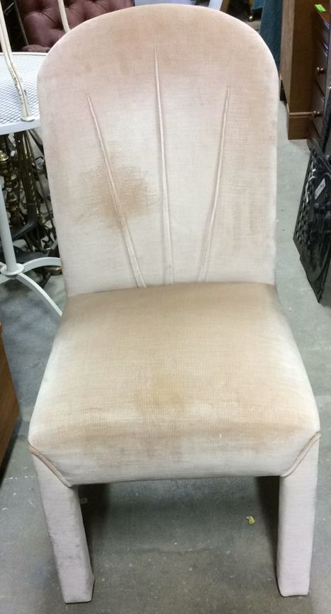 Upholstered arc back parsons style side chair for What is a parsons chair style