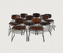 8 Beaubourg Chairs