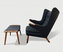Hans Wegner Papa Chair and Ottoman