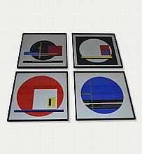set of four Albert Jean Gorin prints