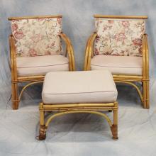 10pcs Outdoor Bamboo Furniture Set   c.1955-1960