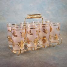 Mid Century Drinking Glass Set