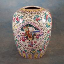 Asian Vase Drilled for Lamp