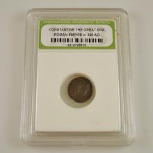 c.330 AD Constantine the Great-era Roman Empire Coin