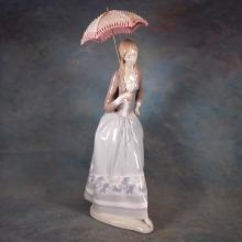 Lladro Figure - Woman w/Umbrella #4805  19