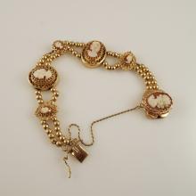 14K & 10K Y.G. Cameo Add On Bracelet by Klein Jewelry Co. - Signed KLJC