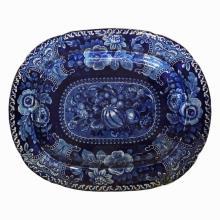 Five 19th C Blue & White Porcelain Platters