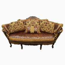 Victorian Leather & Upholstery Sofa From Jeff Zimmerman Collection