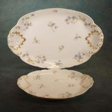 2 Serving Platters by Limoges; 13.5