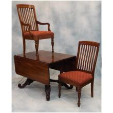 Henredon Mahogany Drop Leaf Dining Table w/6 Chairs & 3 Leaves - Retails $10,000.00