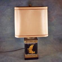 Asian Tole Lamp w/Shade