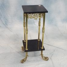 Brass & Marble 2 Tier Stand