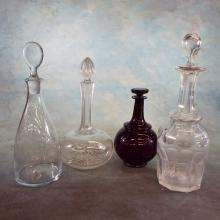 4 Glass Decanters