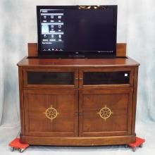 Mahogany Lift Cabinet w/Remote Containing 42