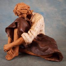 Ceramic Figure of Woman (Old Repair) by Maria Antonieta Roque Gameiro (Portugal 1945 - Present)  Signed by the Artist