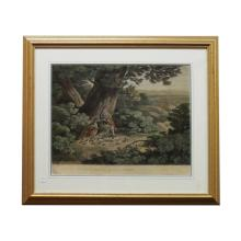 19th C English Hand Colored Engraving of Landscape - R. Reinagle 29
