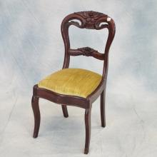 Single Carved Mahogany Victorian Side Chair   c.1850-1860