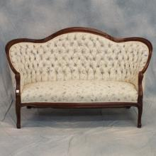 Upholstered Victorian Settee