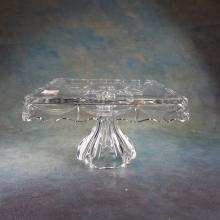 Pressed Glass Cake Plate   10