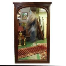 c.1900 Lg Walnut French Pier Mirror       46