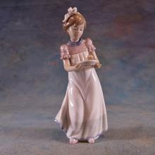 Lladro Figure of Girl w/Cake