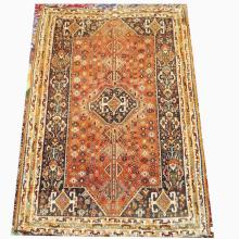 Handmade Wool Qashqai Rug  5'7x9'3
