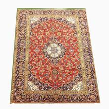 Handmade Wool Sarouk Rug   4'7x9'3