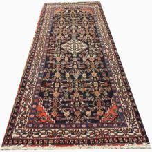 Handmade Wool Hoseinabad Rug  4'2x10'3