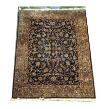 Handmade Wool Kashan Rug    8'9x11'6 (some scattered moth damage)