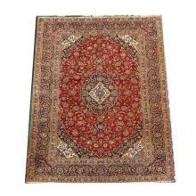 Handmade Wool Kashan Rug  9'6x12'9