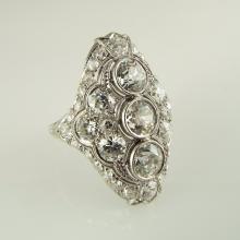 Ladies' Platinum Antique-style Dinner Ring w/Approx 4.82ctw Diamonds - Appr $11,701.00