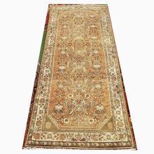 Handmade Persian Wool Hamedan Rug  4'x9'8