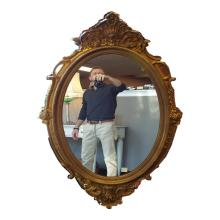 Antique French Oval Mirror   26