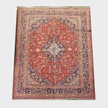 Handmade Wool Mashad Rug  9'10x13'6