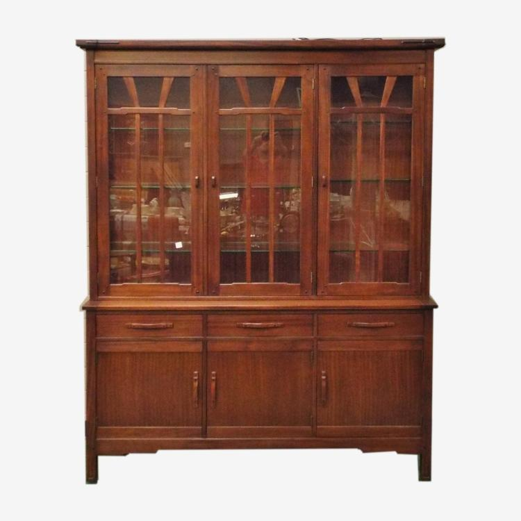 Stickley 2pc China Cabinet Pasadena Bungalow Collection