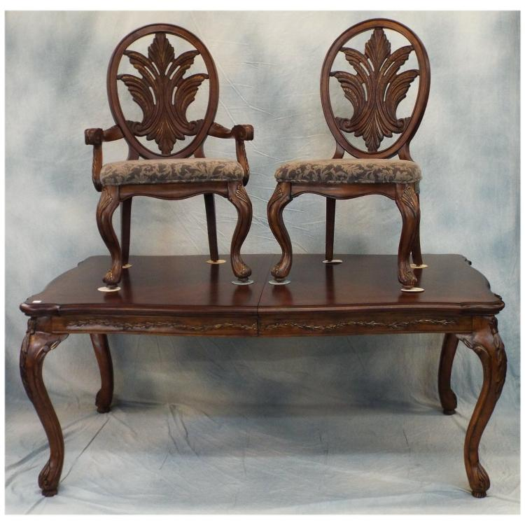 Dining Room Table W 6 Chairs Amp 2 Leaves