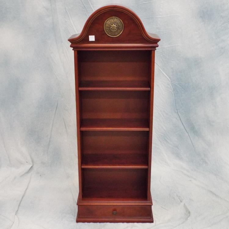 Small Wooden Bookcase W Single Bottom Drawer