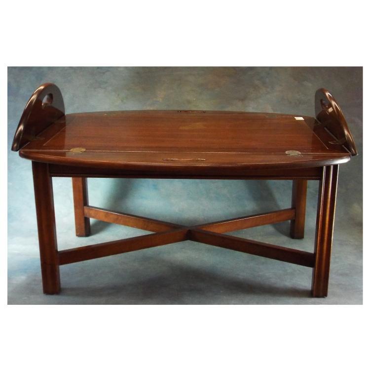Butler Tray Mahogany Coffee Table