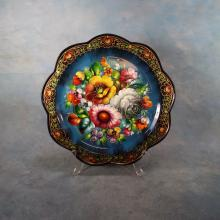 Russian Hand Painted Tray (Signed)