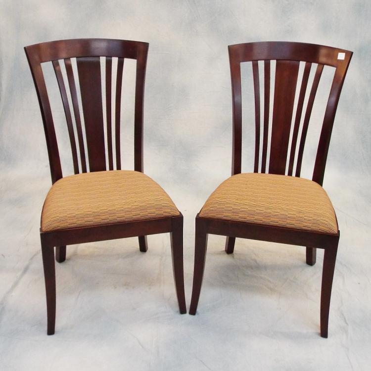 6 stickley cherry dining chairs