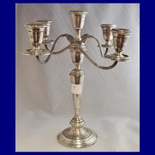 Sterling Silver 5 Light Candelabra by Alvin