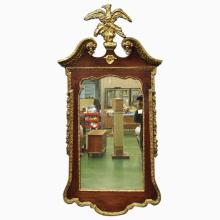 Late 18th/Early 19th C Mirror w/Eagle Pediment  37