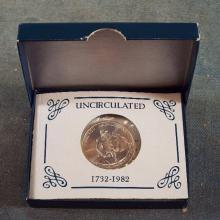 1732-1982 George Washington Uncirculated Half Dollar
