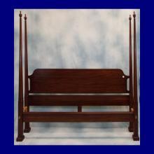 Henkel-Harris Virginia Galleries Wild Black Cherry 4 Poster Canopy Bed w/Rails